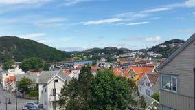 Un jour ensoleillé dans Egersund Photos stock
