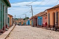 Un jour normal sur une rue dans Trinidada Images libres de droits