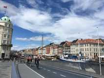 Un jour nuageux à Copenhague Photo stock