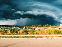 Un jour orageux en Nouvelle Angleterre Image stock