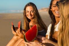 Un jour sur la plage Images libres de droits