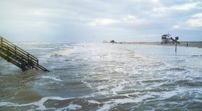 Un jour sur la plage de St Peter Ording photos libres de droits