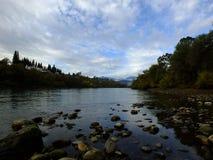 Un jour sur le fleuve Sacramento photo stock