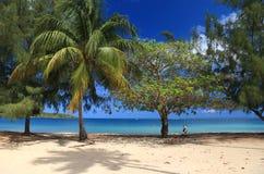 Un jour tranquille à la plage images libres de droits
