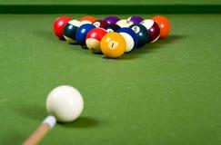 Un juego de la piscina o de billares imagen de archivo