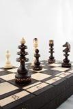 Un juego del ajedrez Imagenes de archivo