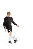 Un jugador de fútbol Fotografía de archivo libre de regalías