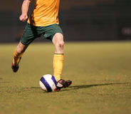 Un jugador de fútbol Imagen de archivo libre de regalías