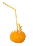 Un jugo de la mandarina Fotos de archivo libres de regalías