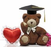 Un juguete suave que lleva un casquillo de la graduación Imagenes de archivo