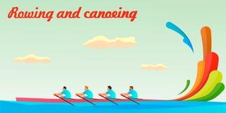 Un kayak di quattro genti nel gruppo Fotografie Stock Libere da Diritti