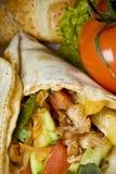Un kebab delicioso Foto de archivo libre de regalías