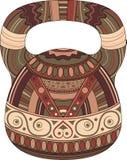 Un kettlebell de couleur sur le fond blanc avec le modèle ethnique Illustration de vecteur photo stock