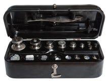 Un kettlebell dell'insieme Fotografia Stock