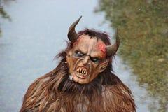 Un Krampus, un mostro austriaco di Natale Salisburgo, Austria fotografie stock