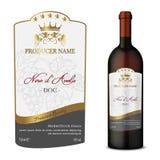 Un label moderne de vin de vecteur Images libres de droits