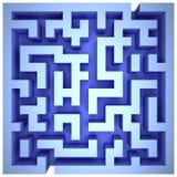 Un labirinto delle pareti blu Fotografia Stock