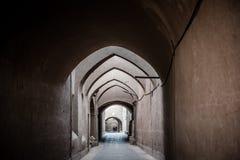 Un labyrinthe antique dans Yazd, Iran photographie stock