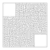 Un labyrinthe carré énorme avec une entrée et une sortie Illustration plate simple de vecteur d'isolement sur le fond blanc Avec  illustration libre de droits