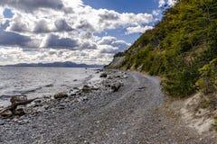 Un lac chez Ushuaia, Patagonia Argentine photos stock