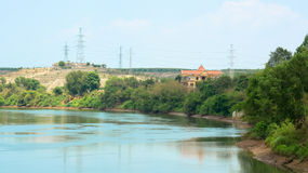 Un lac confisqué au Vietnam Photos stock