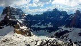 Un lac figé. Stationnement national de glacier Images libres de droits