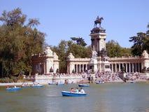 Un lac à Madrid Images libres de droits