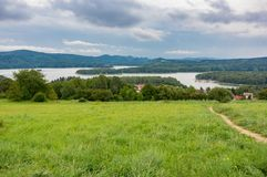 Un lac Solina Image stock