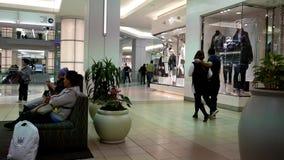Un lado de comprador dentro de la alameda de compras del centro de Burnaby almacen de video