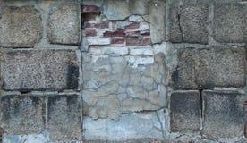 Un ladrillo del grunge y una pared de piedra con el detalle y la textura Foto de archivo libre de regalías