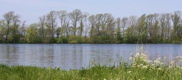 Un lago calmo in Olanda Fotografia Stock