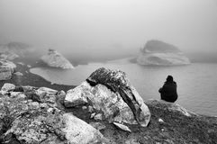 Un lago de la montaña Imagen de archivo
