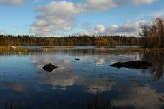 Un lago en Finlandia imagen de archivo libre de regalías