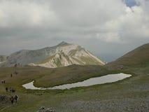 Un lago glaciale immagini stock