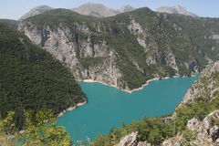 Un lago nel Montenegro Immagini Stock Libere da Diritti