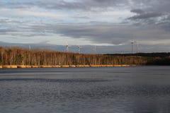 Un lago nell'inverno Fotografie Stock Libere da Diritti