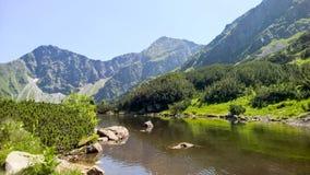 Un lago nella montagna di tra del ¡ di TÃ Immagine Stock