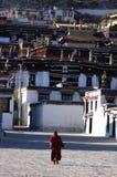 Un lamasery tibétain images stock