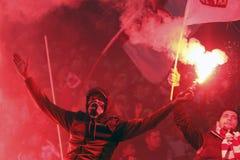 FC Bucarest rapida - FC Dinamo Bucarest Immagine Stock