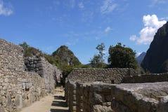 Un laneway dans la ville perdue de Machu Picchu photographie stock libre de droits