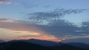 Un lapso de tiempo de una puesta del sol metrajes
