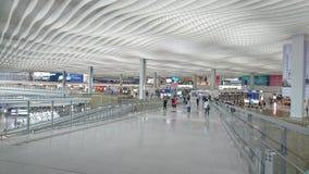 Un large voyageur de passage couvert d'aéroport photographie stock libre de droits