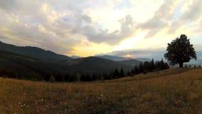 Un lasso di tempo di un tramonto stock footage