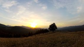 Un lasso di tempo di un tramonto video d archivio