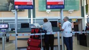 Un lato di Air Canada controlla contro stock footage