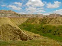 Un lato verde del parco nazionale dei calanchi fotografie stock libere da diritti