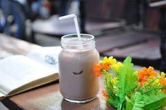 Un latte al cioccolato del ghiaccio Fotografia Stock Libera da Diritti