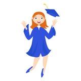 Un laureato con un diploma Fotografia Stock