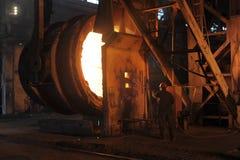 Un lavoratore dell'industria siderurgica fotografie stock libere da diritti