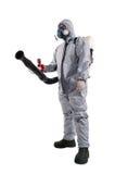 Un lavoratore di controllo dei parassiti Fotografia Stock Libera da Diritti